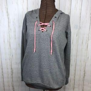 Ocean Drive   Burnout Gray Hoodie Sweatshirt   L